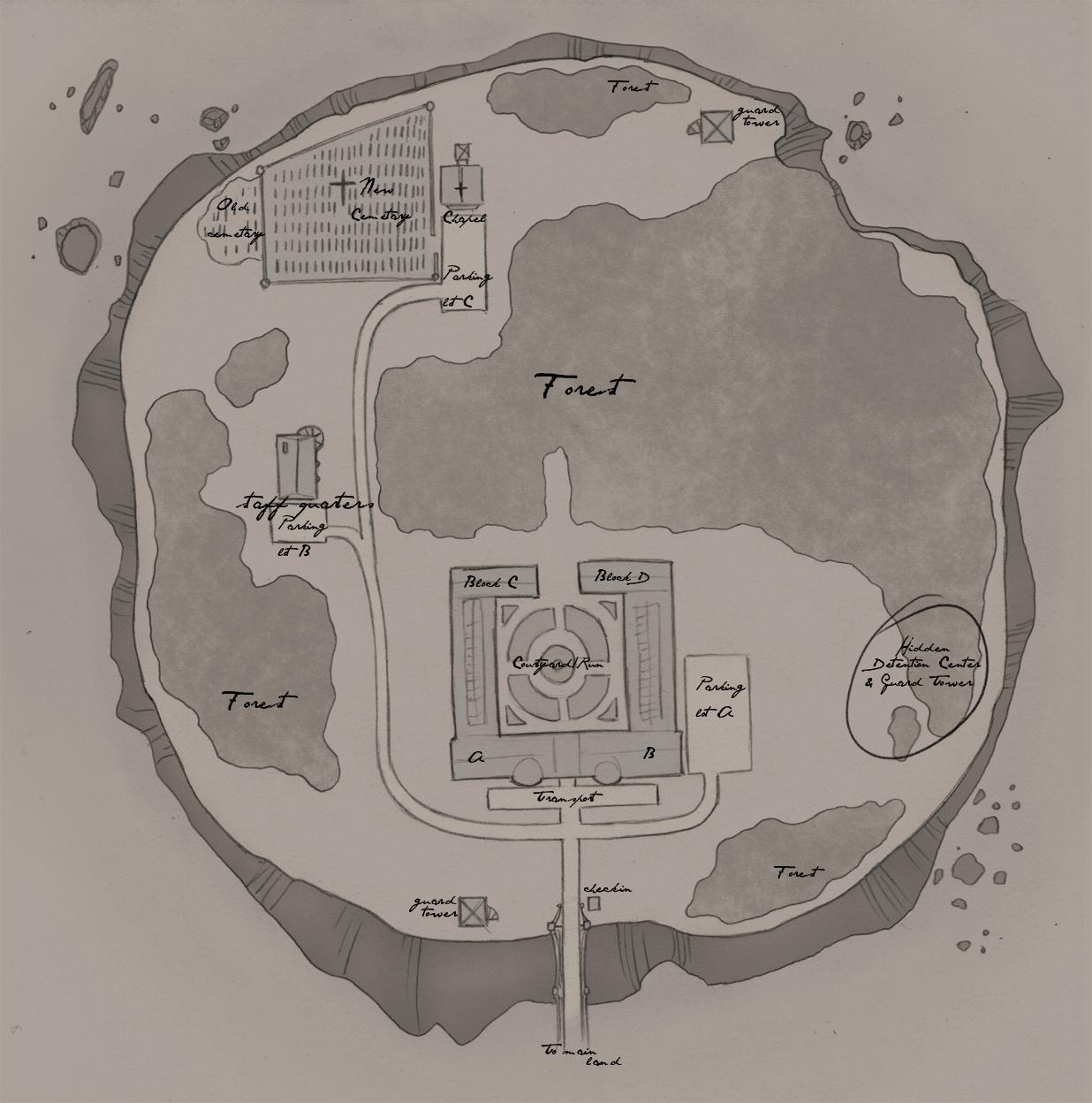 Winthrop Island – Rough Map